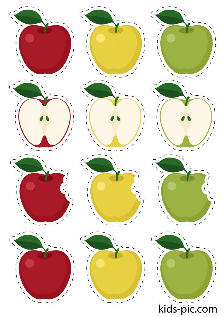шаблон яблок для вырезания из бумаги распечатать - 2