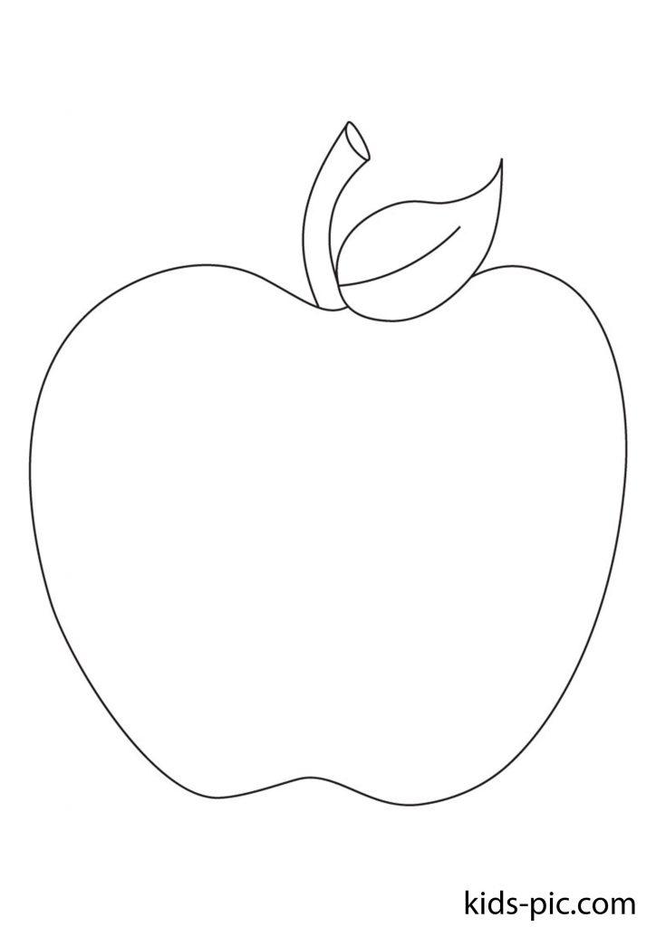 шаблон яблука для вирізання