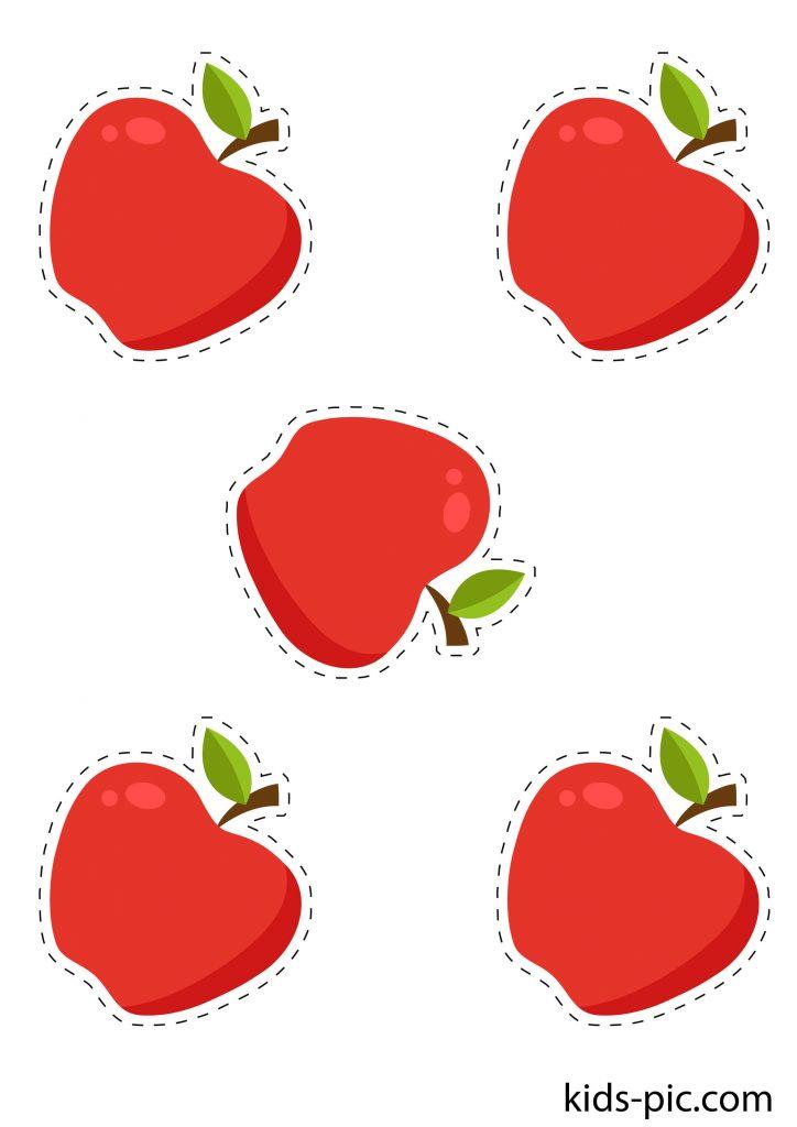 шаблон яблук для вирізання з паперу роздрукувати - 2