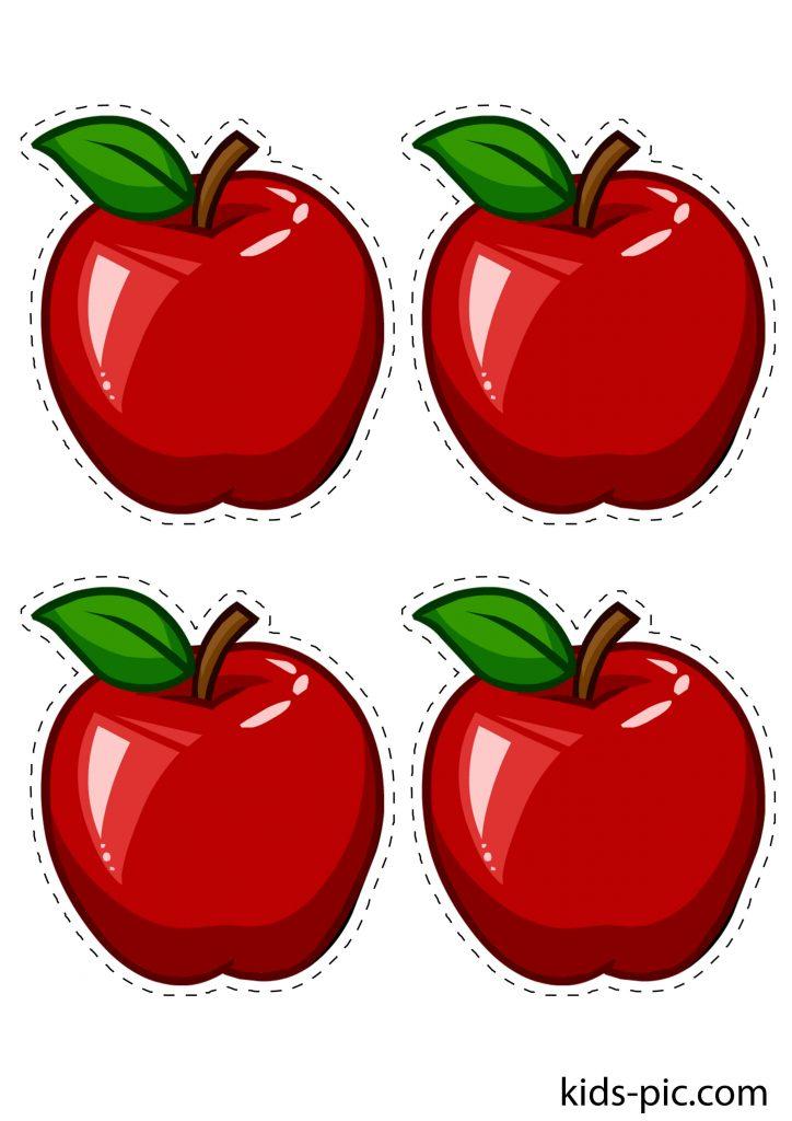 шаблон яблук для вирізання з паперу - 3