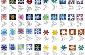 снежинки шаблон для вырезания из бумаги