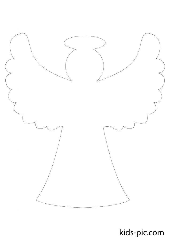cut out angel pattern instruction