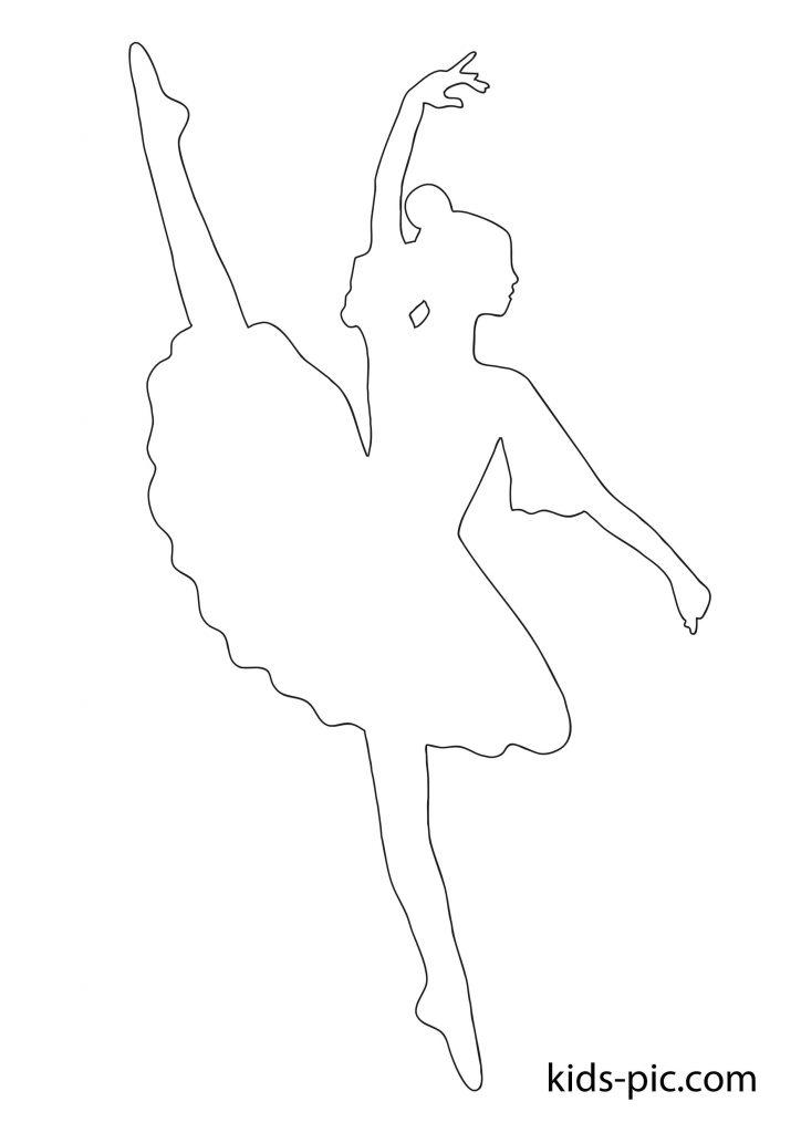 паперова балерина для вирізання