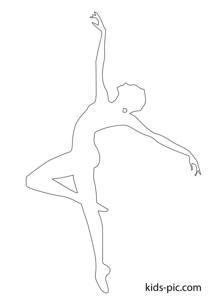 папір балерина вирізати шаблон