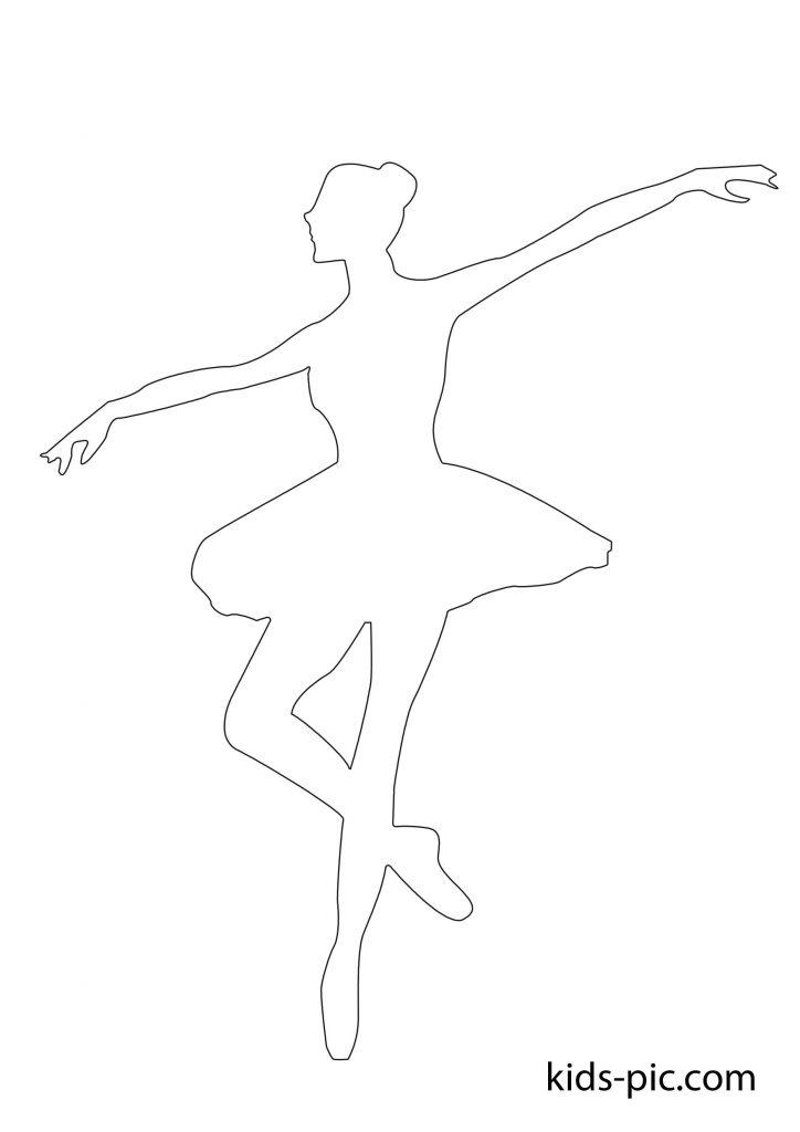 паперова балерина вирізати А4