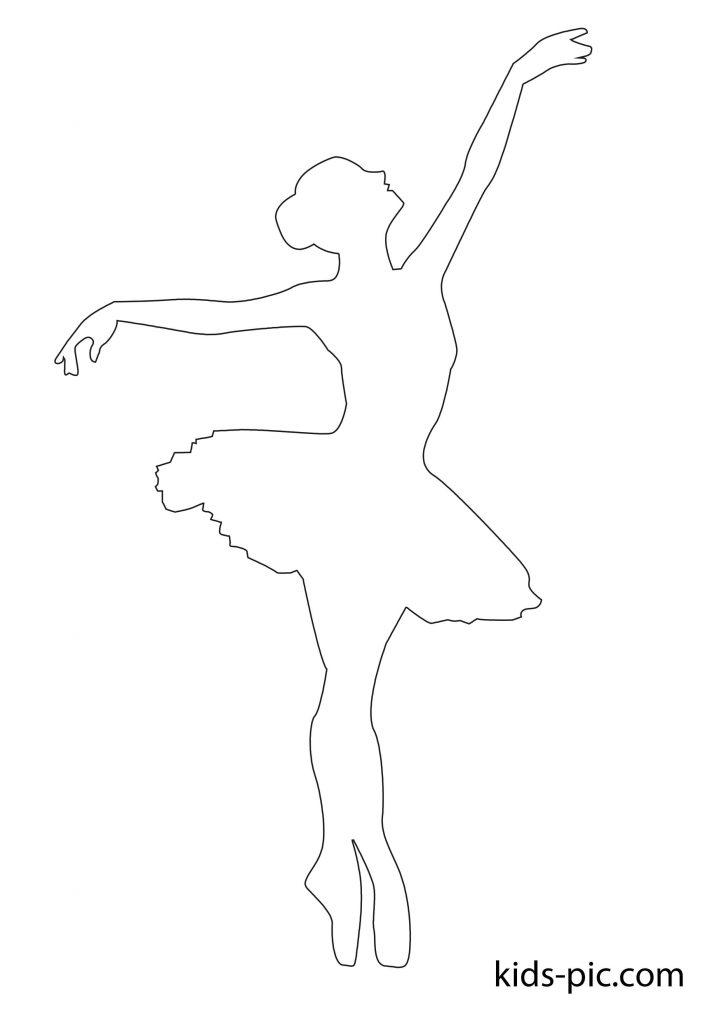 вирізати балерину шаблон