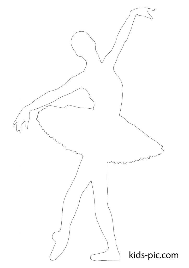 балерина папір шаблон скачати