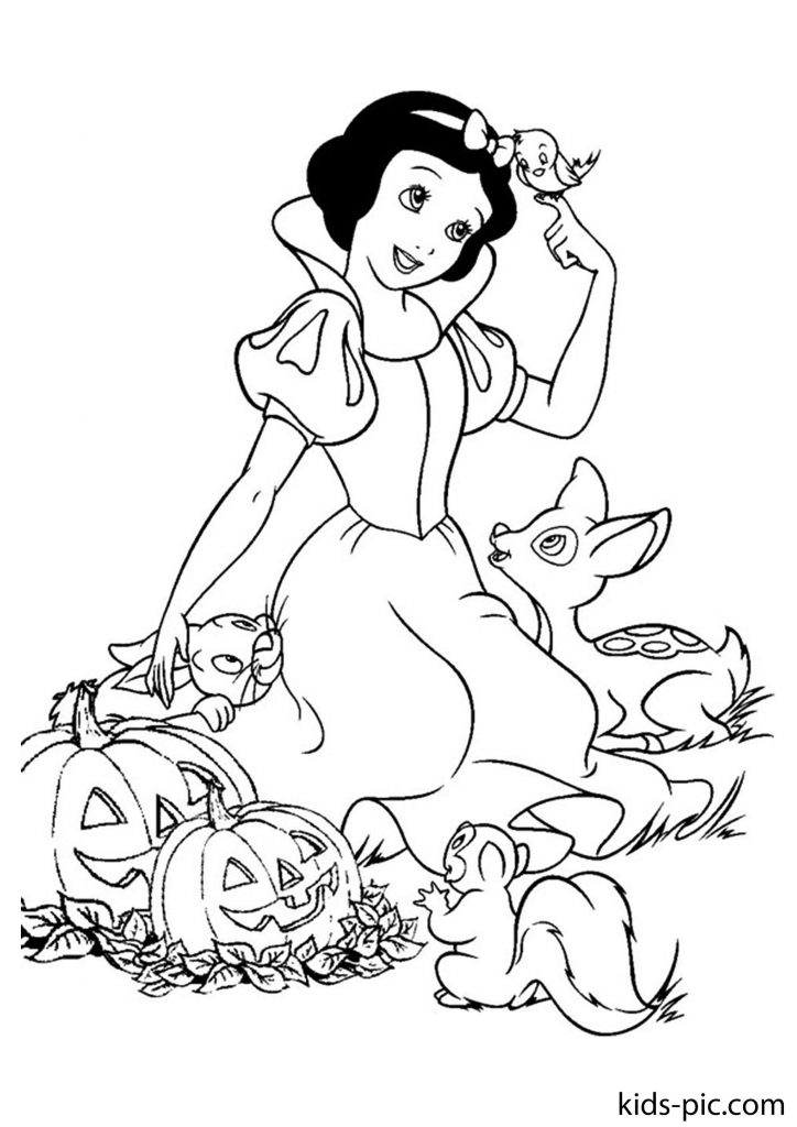 princess snow white colouring