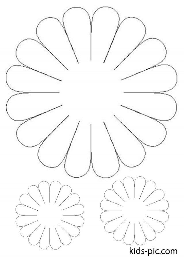 Цветы из бумаги ромашки шаблоны