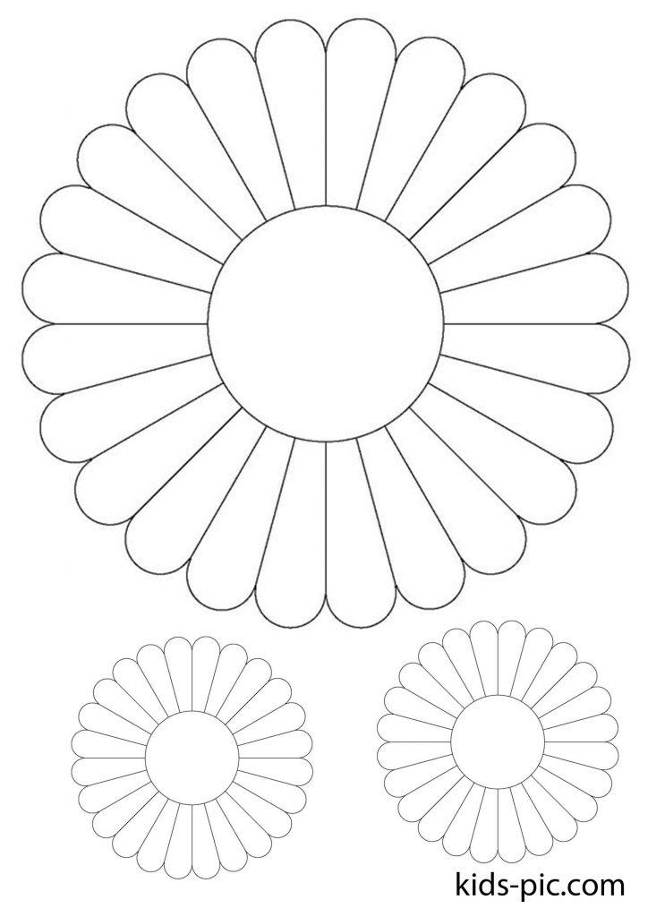 шаблон ромашки для вирізання з паперу роздрукувати - 1