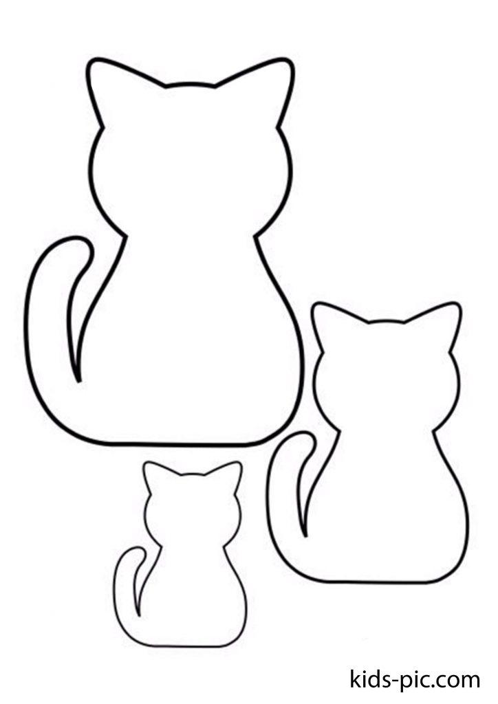 кольорові шаблони кішок для вирізання з паперу роздрукувати