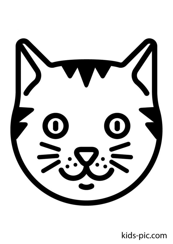 трафарет кішки для вирізання з паперу, різні розміри