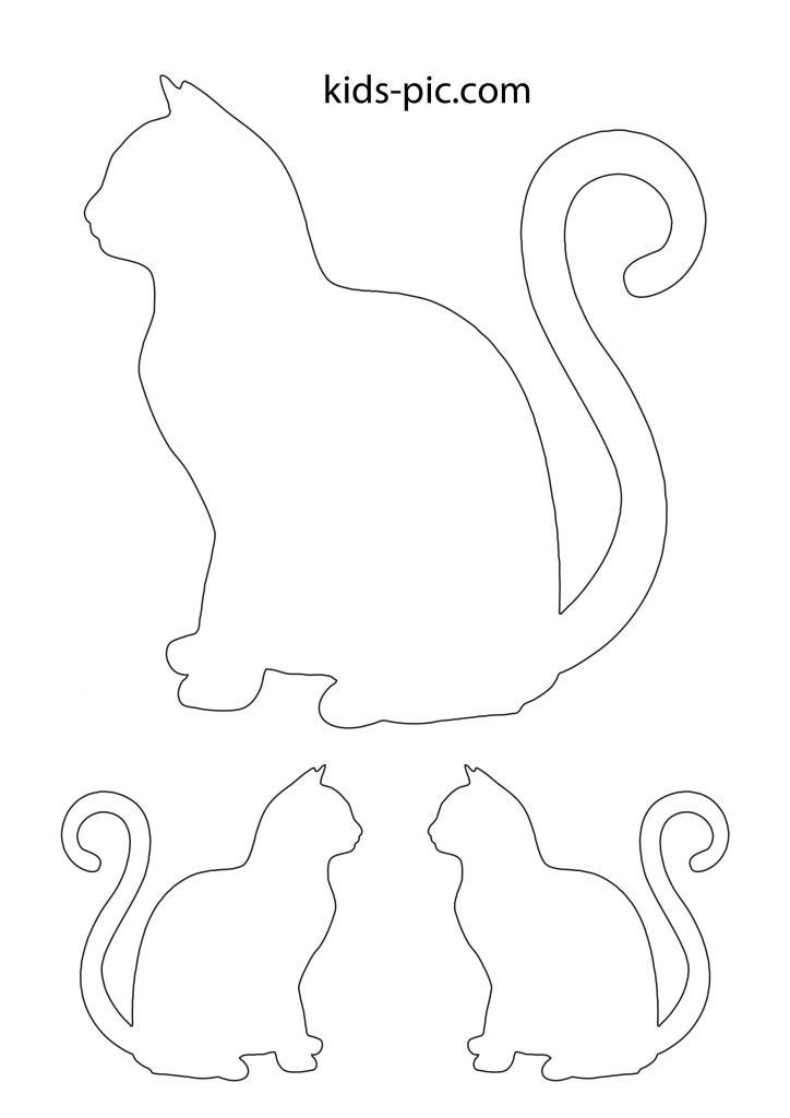 великий трафарет мордочки кішки для вирізання з паперу