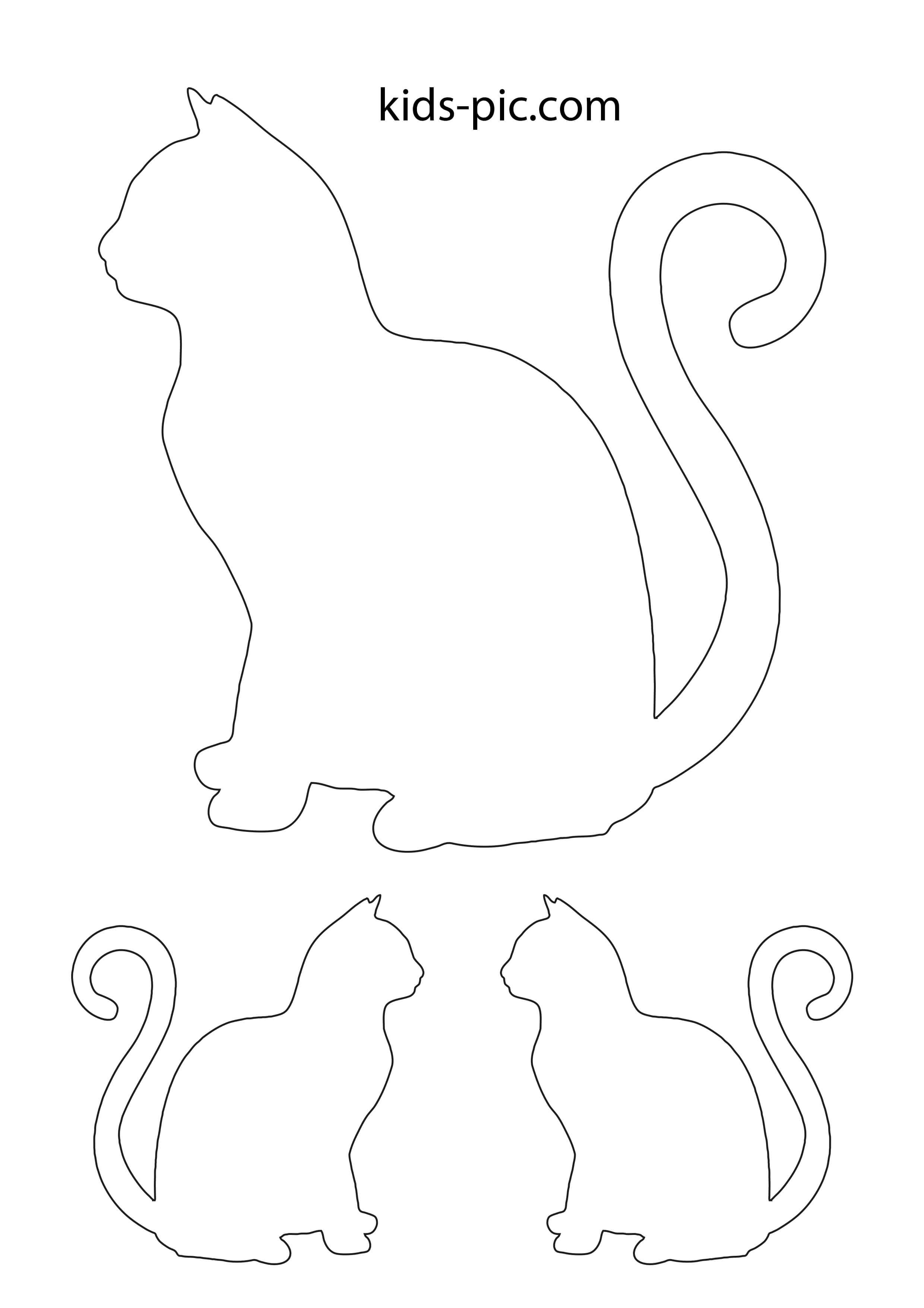 Шаблон кота для открытки