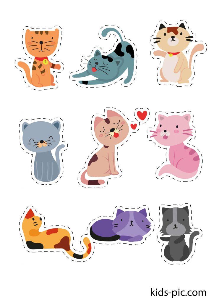 трафарет гарної кішки для вирізання з паперу