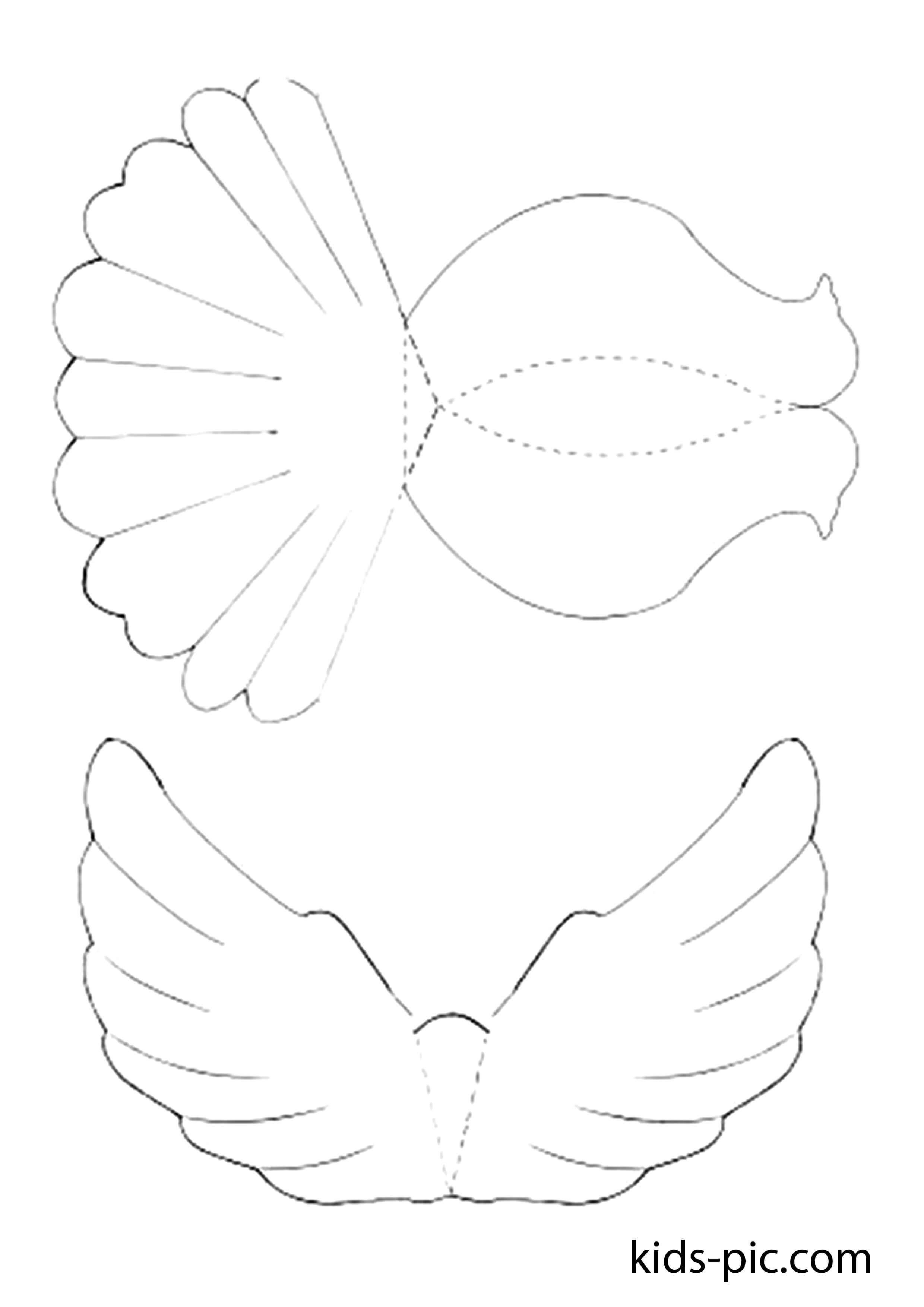 Как сделать объемного голубя из бумаги фото 233