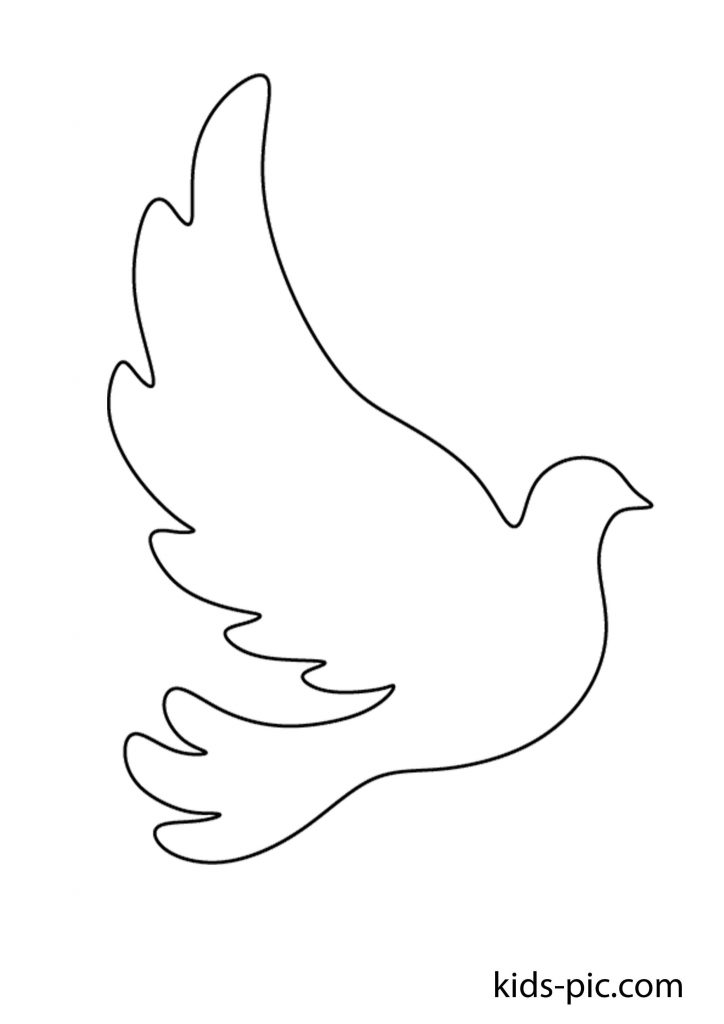 White peace pigeon paper cutting