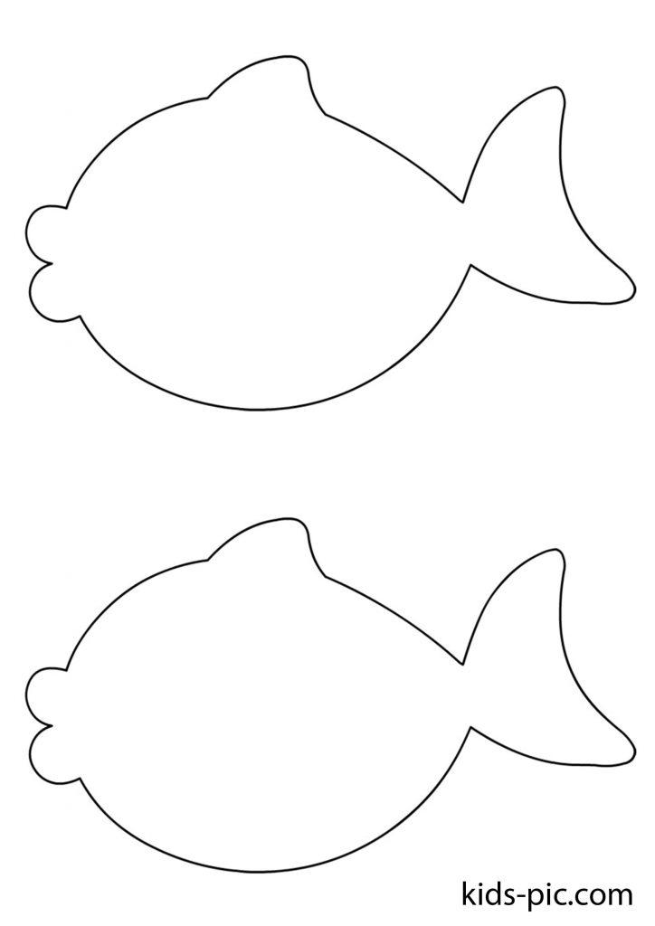 рибки з паперу трафарети для вирізання