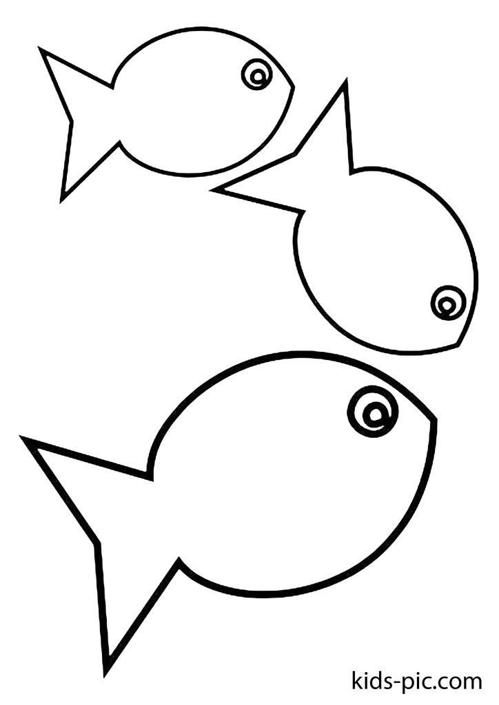 шаблоны для вырезания рыбки из бумаги