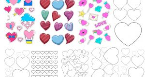 шаблон сердечка для вырезания из бумаги разных размеров