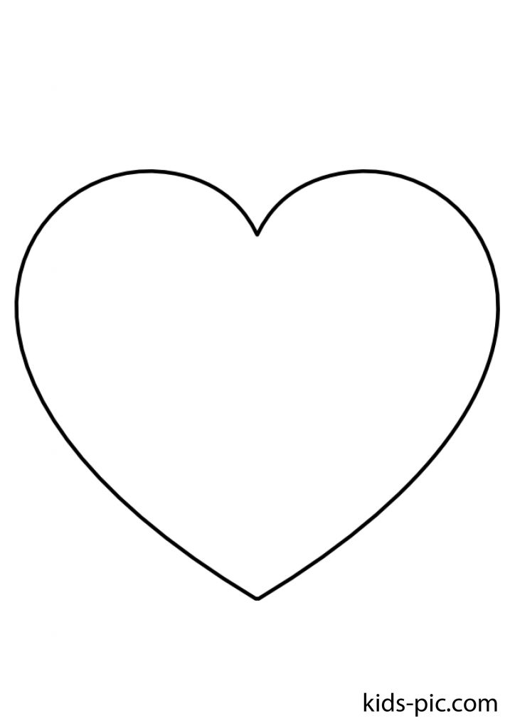 big heart template for cut out A4 paper