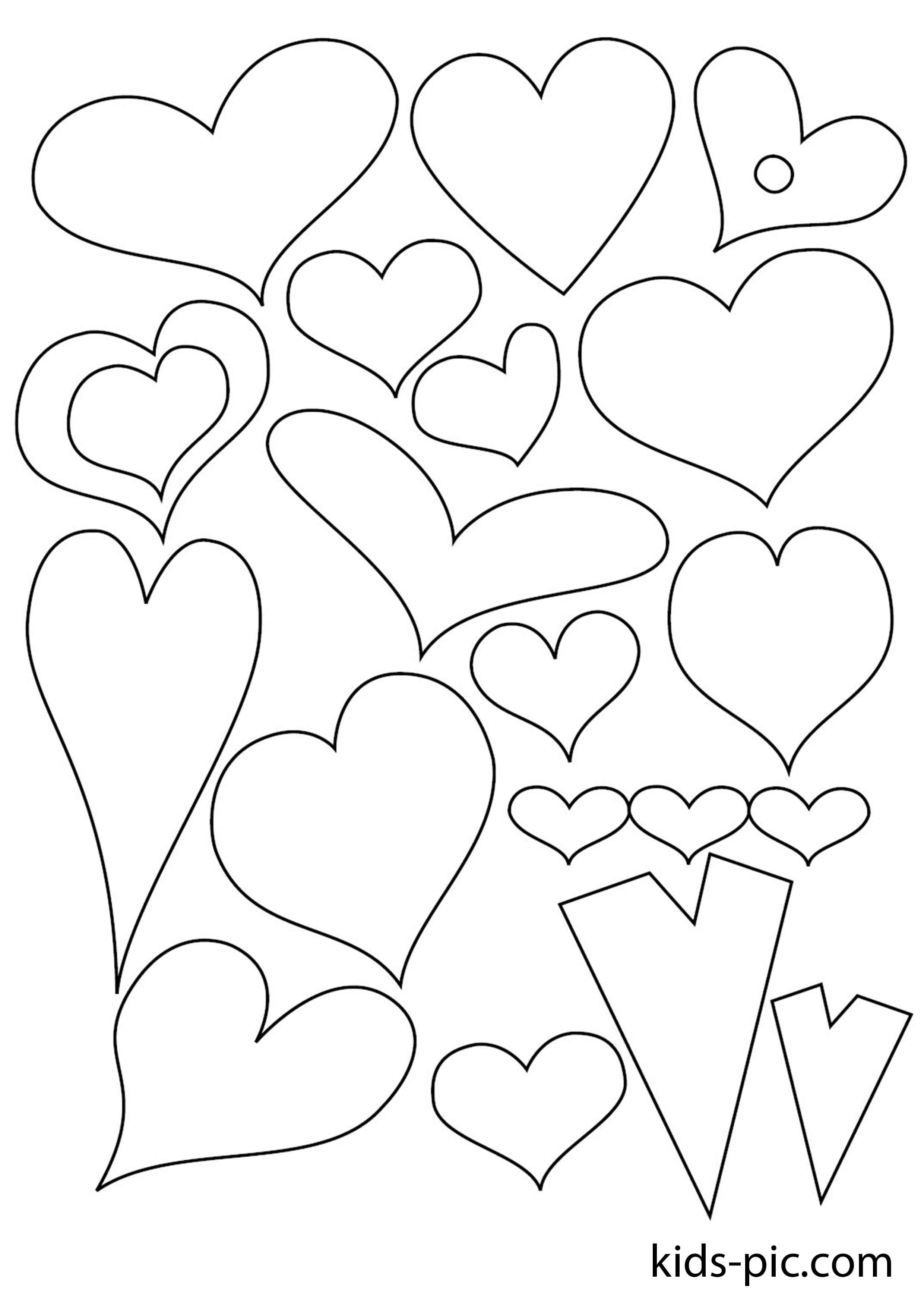 Трафарет сердечко для вырезания из бумаги шаблоны