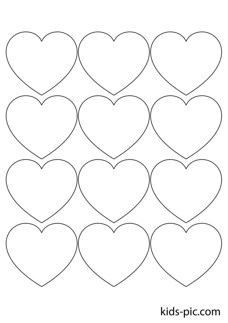 Шаблоны сердца для вырезания из бумаги распечатать формат а4