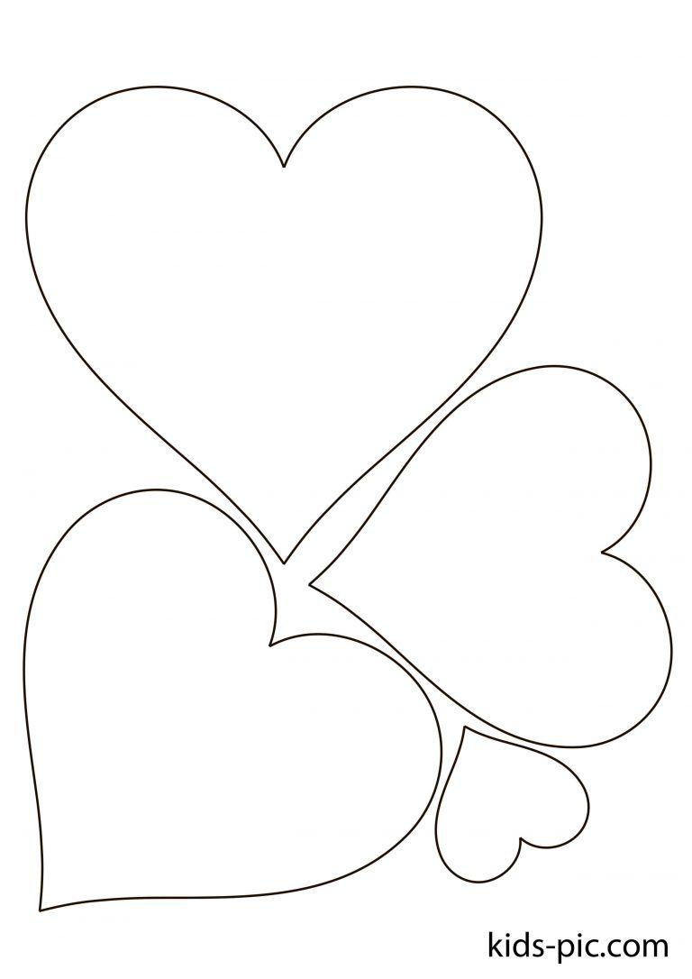 Своими руками, рисунок сердечки шаблон