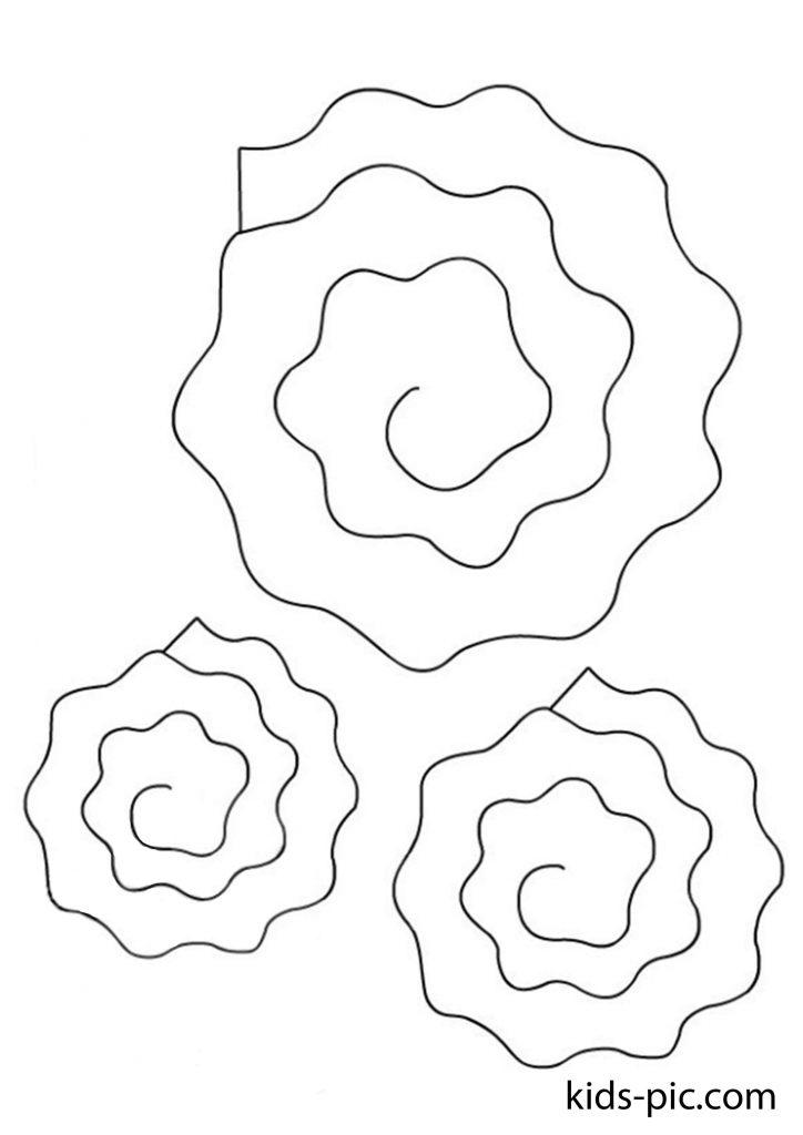 трафарет розы для вырезания из бумаги разные размеры