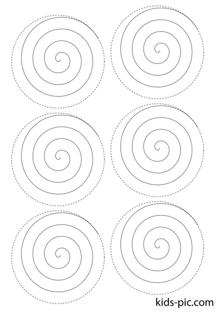 spiral stencil roses to cut out paper patterns