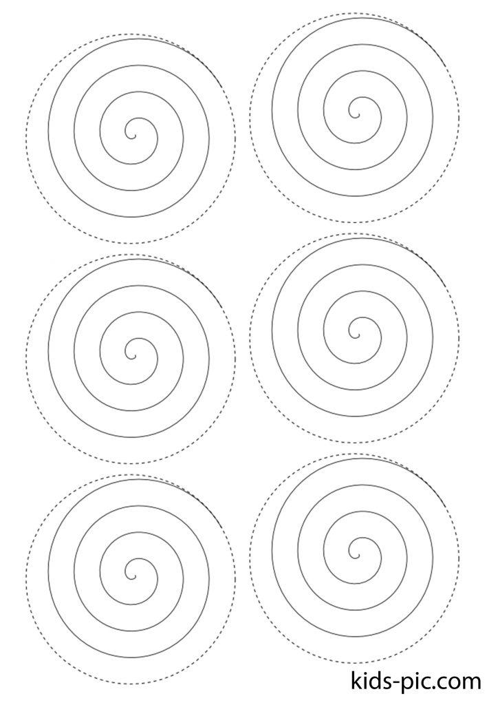 спираль трафарет розы для вырезания из бумаги шаблоны