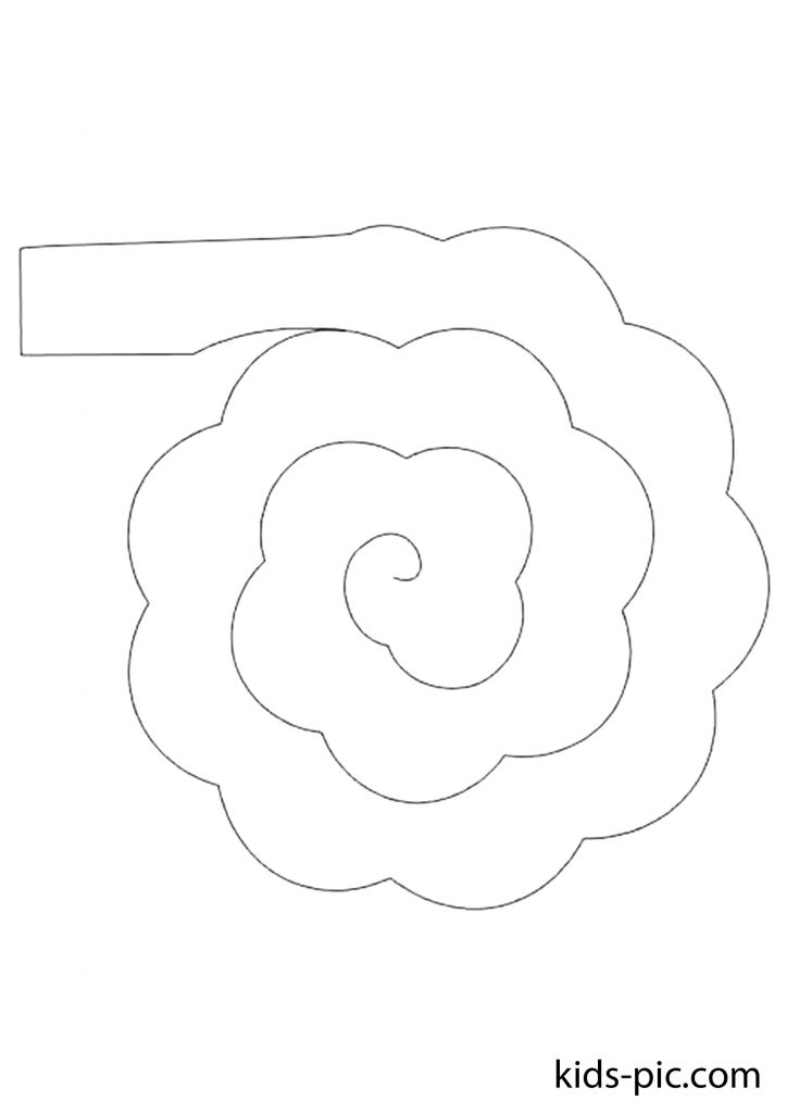 spiral rose pattern to cut out paper print
