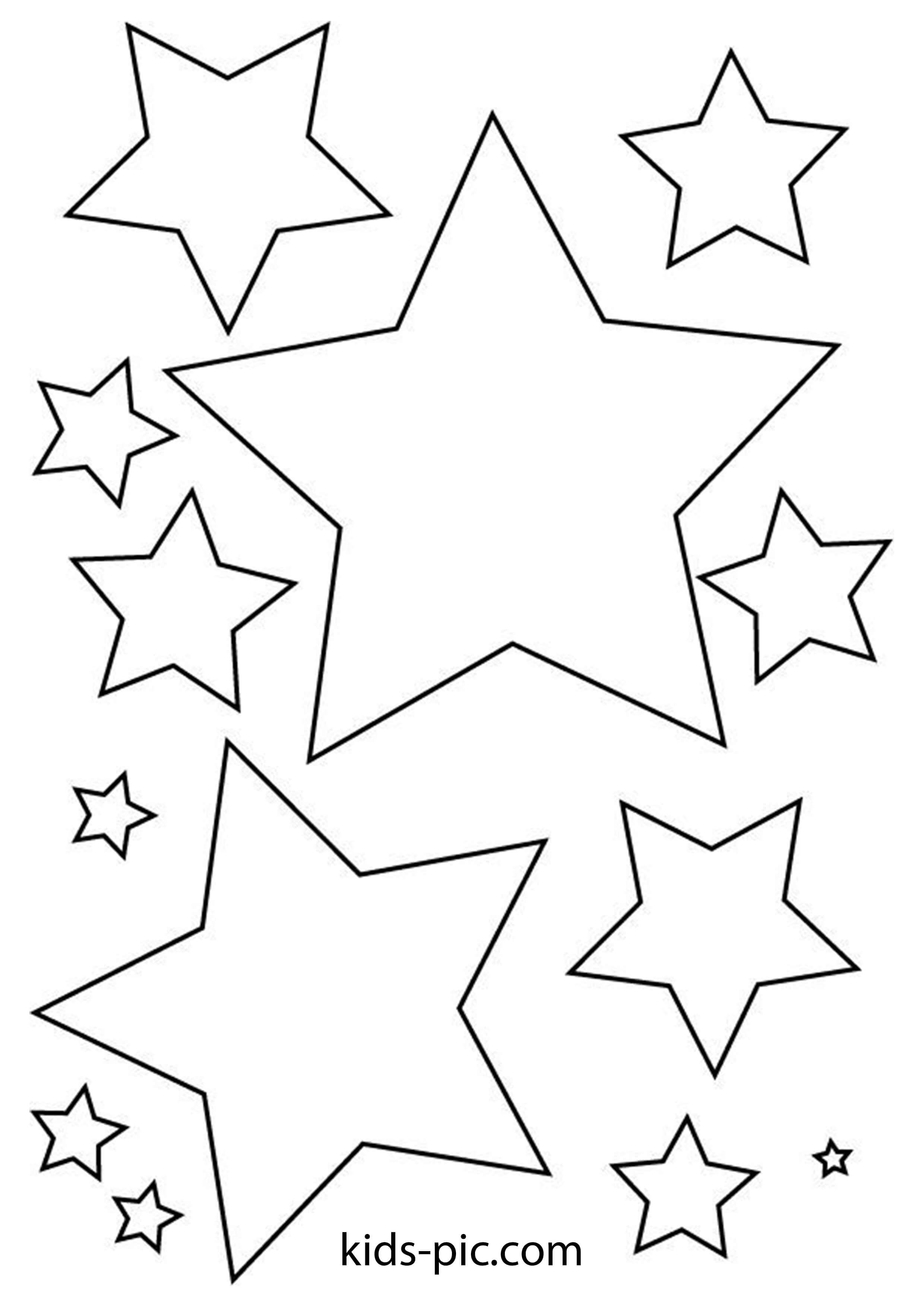 шаблон звезды для вырезания из бумаги Kids Pic Com
