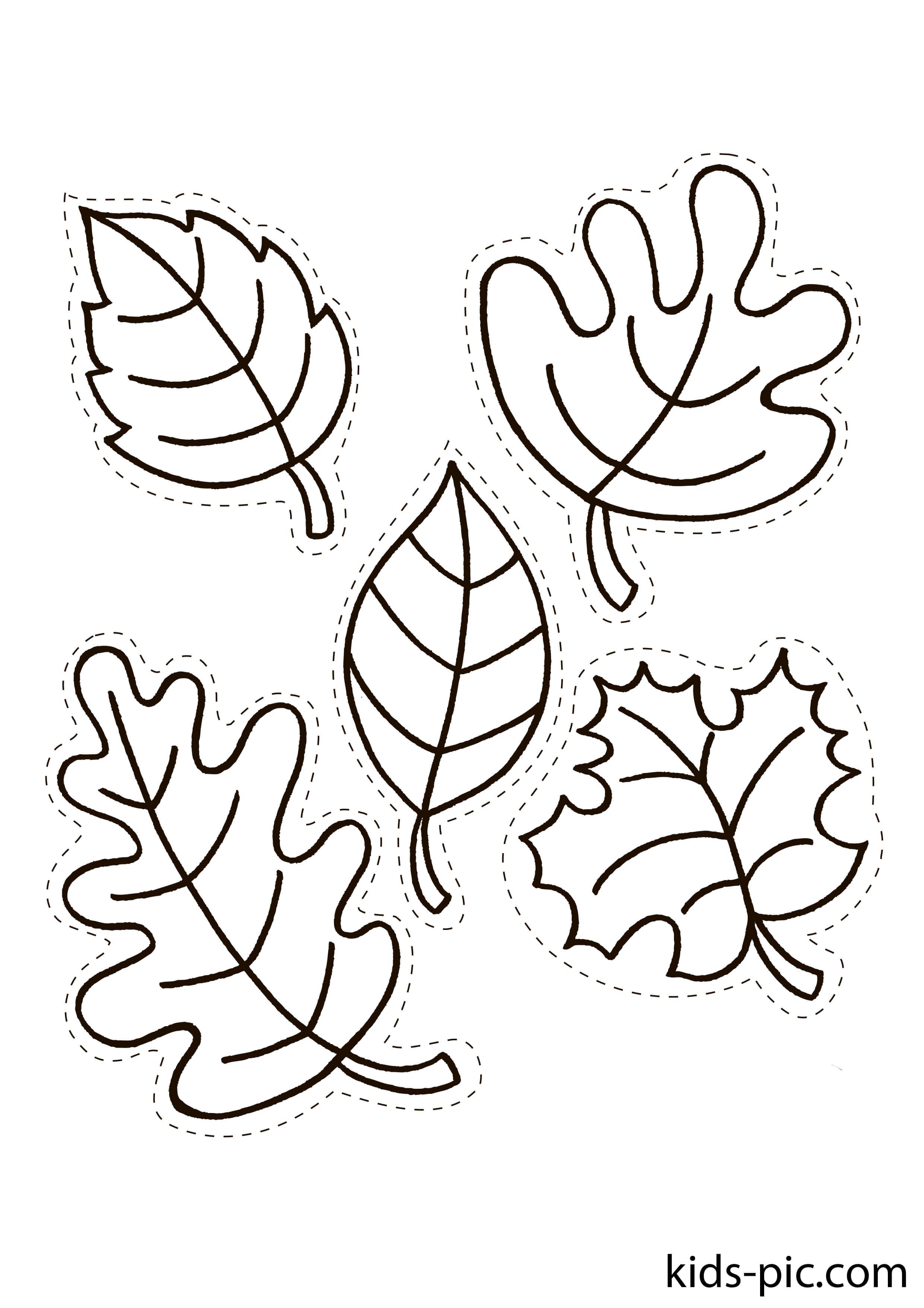 Free Printable Fall Leaves Templates Kids Pic Com