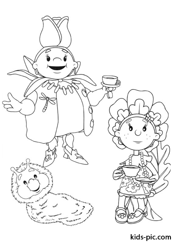 Fifi and the Flowertots printable coloring pages