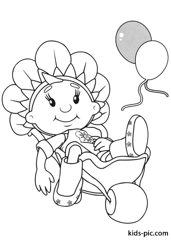 Fifi and the Flowertots coloring pages free printable -1