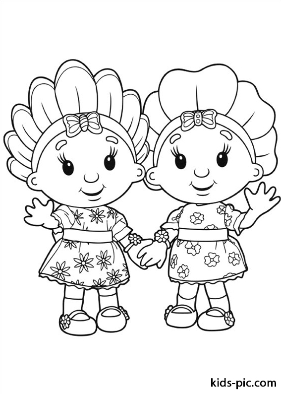 Fifi and the Flowertots coloring pages free printable