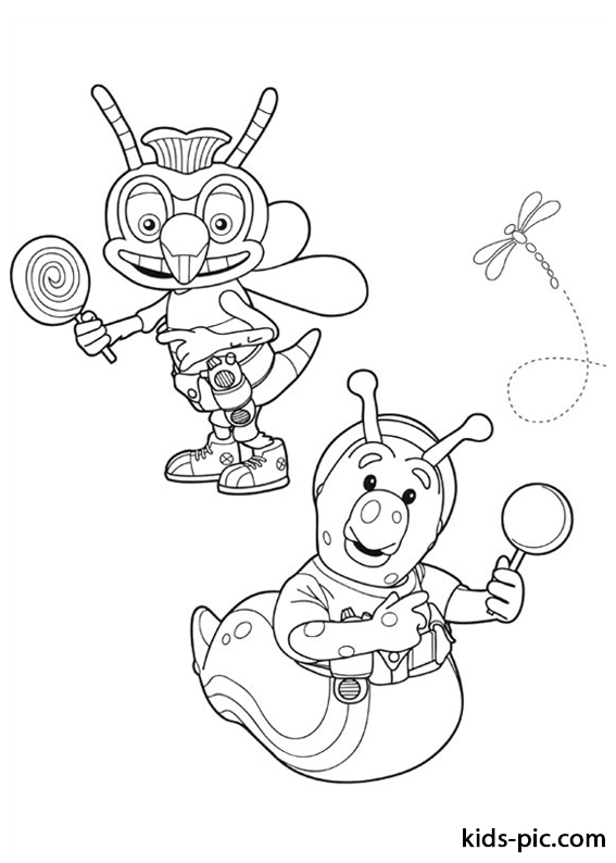 Fifi and the Flowertots coloring pages free -5