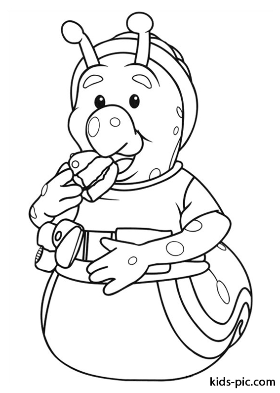 Fifi and the Flowertots coloring pages free -3