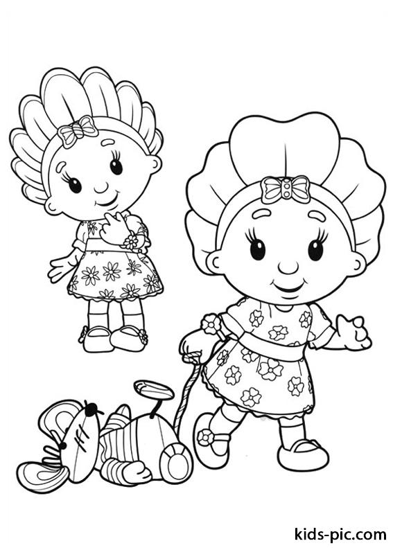 мультфильм фифи и цветочные малыши раскраска