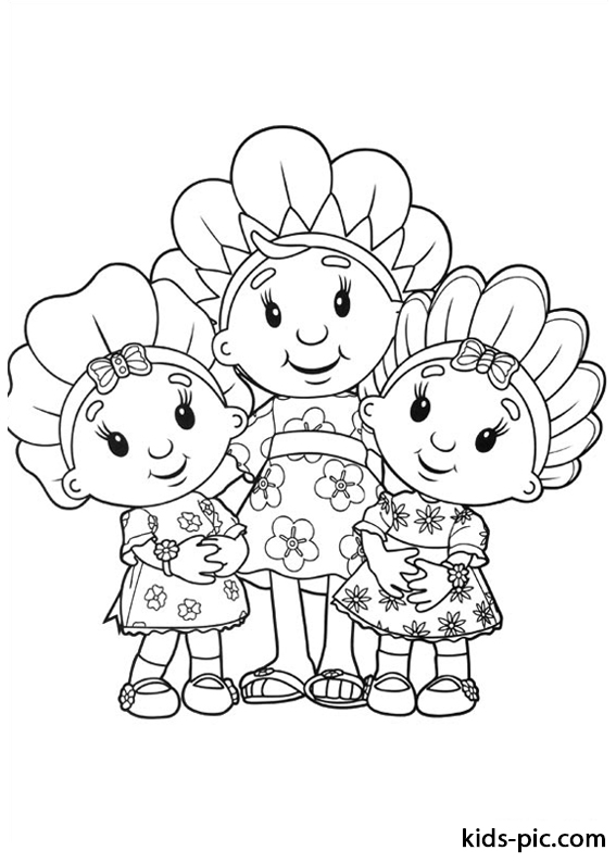 Fifi and the Flowertots coloring pages -3