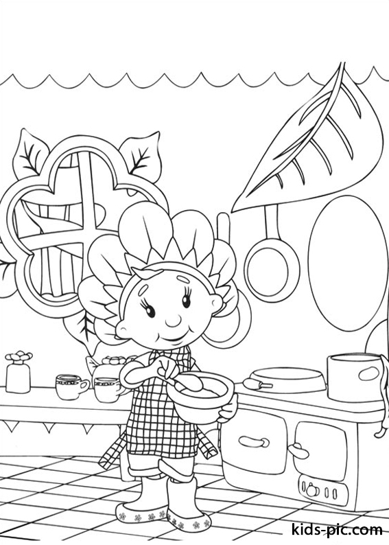 Fifi and the Flowertots coloring pages -1