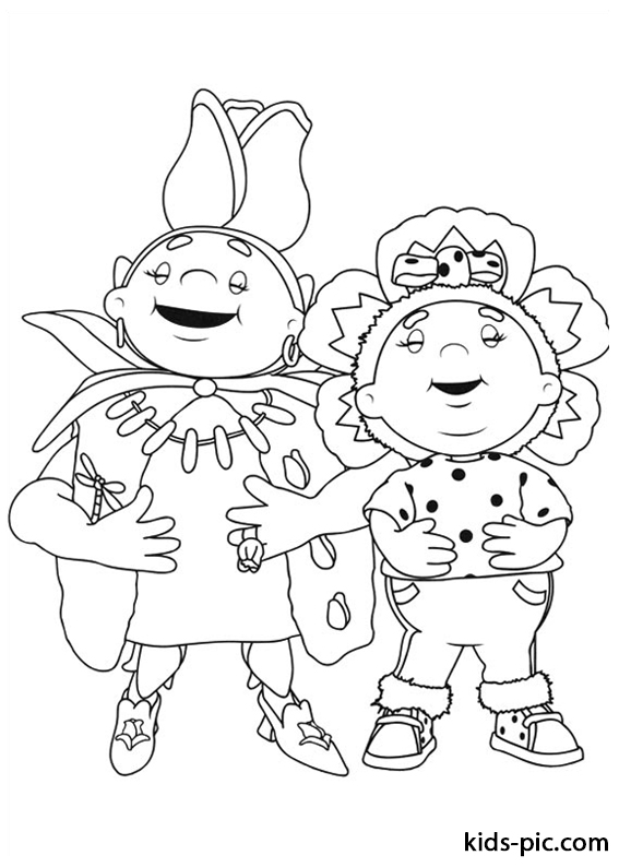 Fifi and the Flowertots printable coloring pages -5