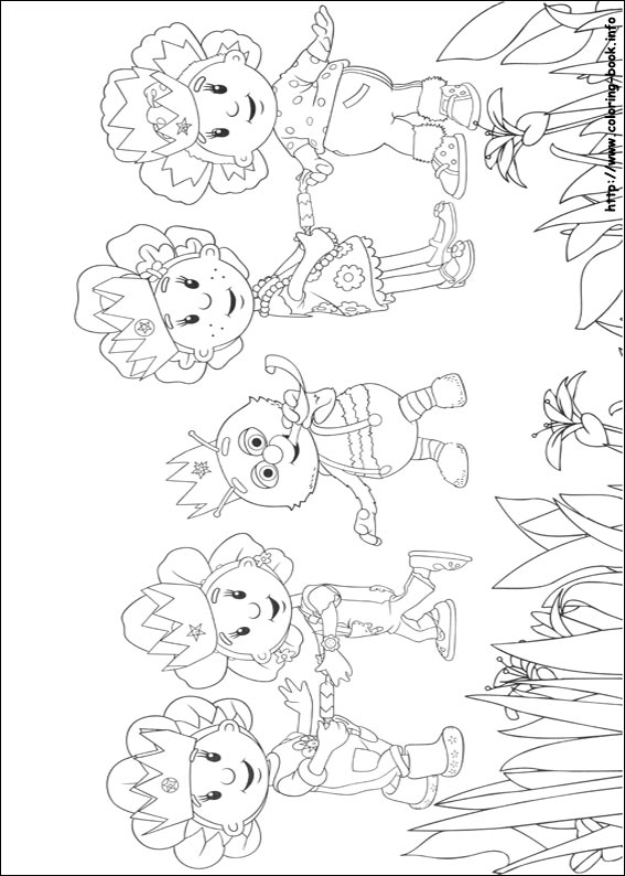 Fifi and the Flowertots printable coloring pages -4