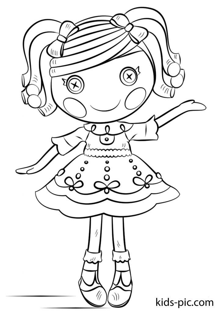 розмальовки ляльки лалалупсі русалки