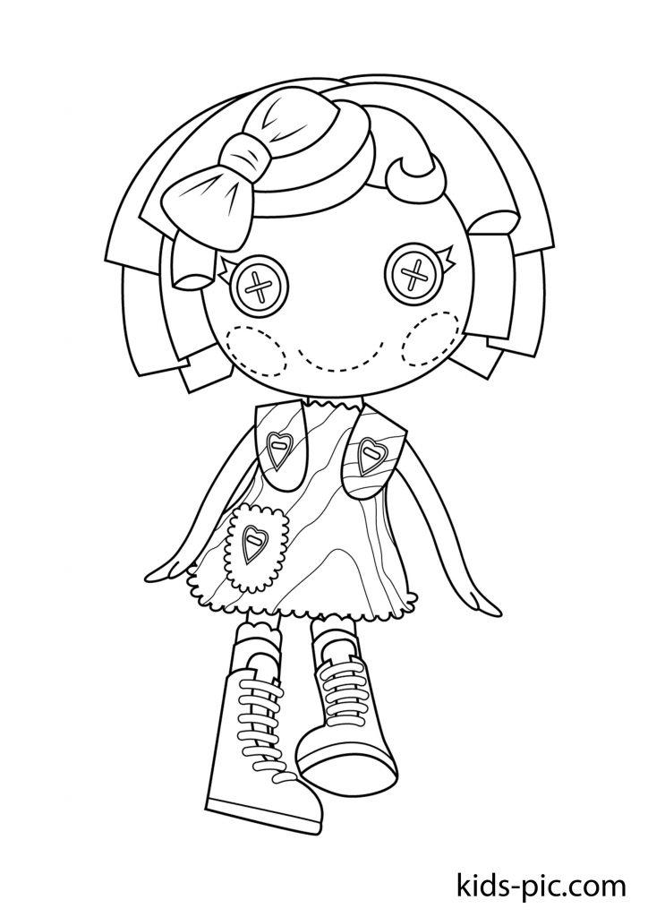 розмальовки для дівчаток лалалупсі з собачкою