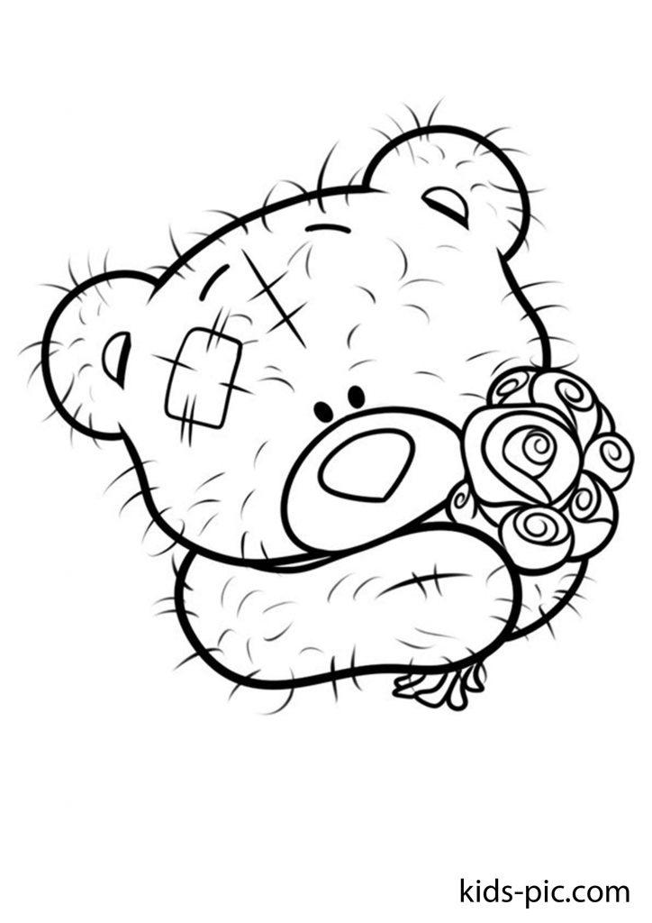 плюшевий ведмідь розмальовка