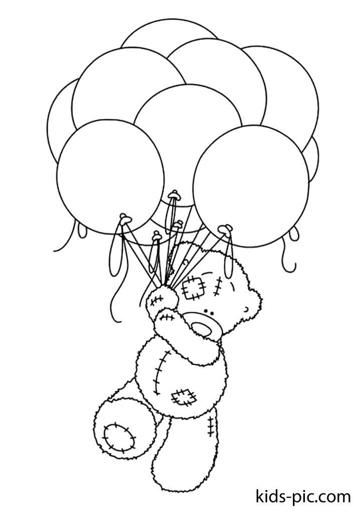 плюшевий ведмедик �пить розмальовка