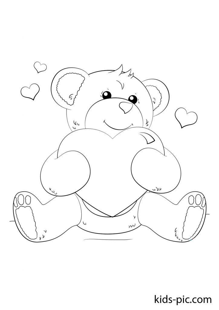 гарний ведмідь розмальовка завантажити