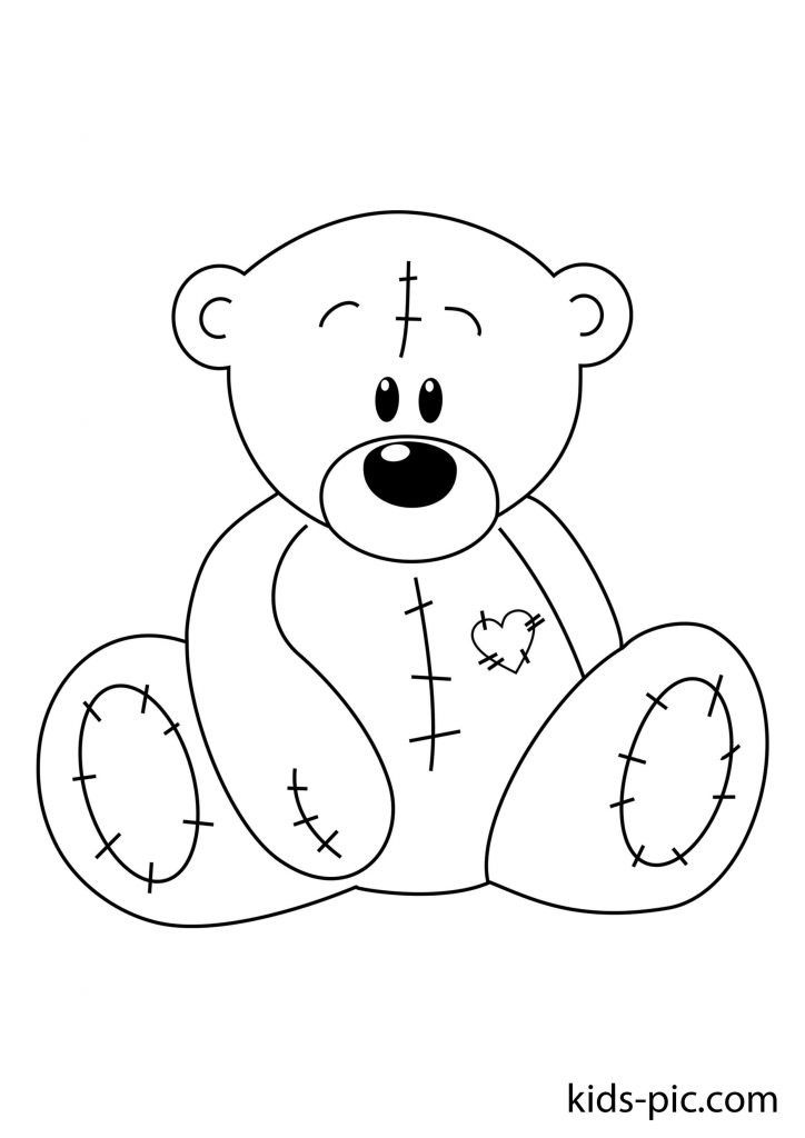 9 Free Teddy Bear Coloring Pages Kids-Pic.com